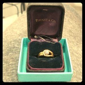 Tiffany & Co diamond ring yellow gold